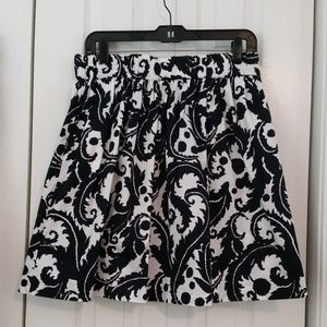 Milly for Banana Republic A-line black/white flora